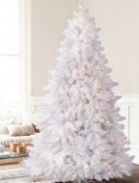 7.5' Balsam Hill Classic White Artificial Christmas Tree - Clear (Christmas Tree)
