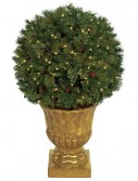 4 foot Pine Ball Christmas Tree: LED lights in Decorative Planter For Christmas 2014