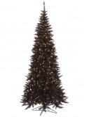 "Vickerman 28203 - 9' x 46"" Black Slim Fir 700 Clear Lights Christmas Tree (K121681) (Christmas Tree)"