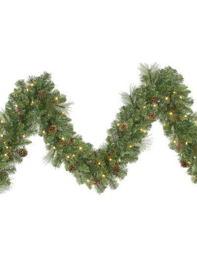 9 foot Cambridge Christmas Garland: Mini Lights For Christmas 2014