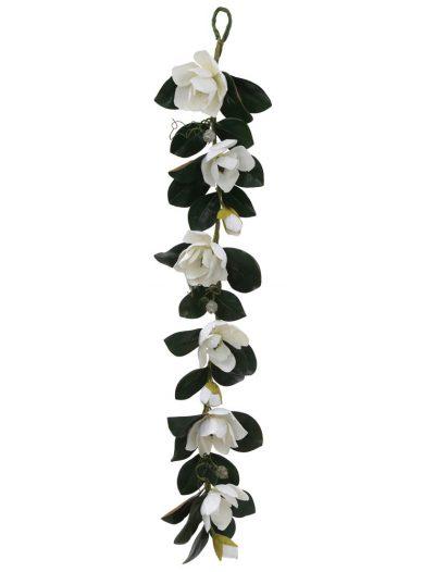 5 foot White Magnolia Christmas Garland For Christmas 2014