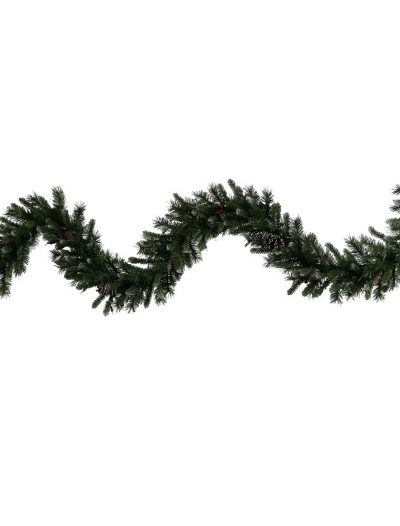9 foot Artificial Ashberry Pine Garland with Pinecones For Christmas 2014