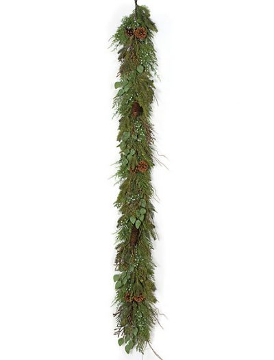 6 foot  Plastic Cedar Garland: Set of (2) For Christmas 2014