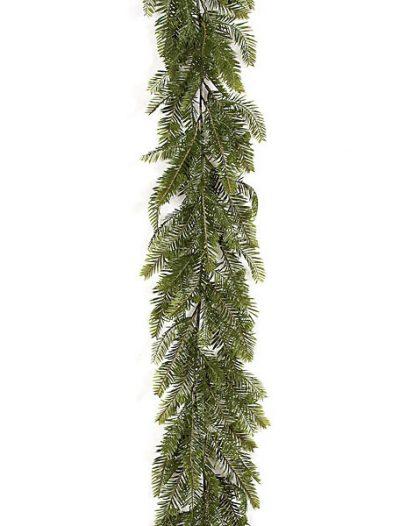 6 Foot Plastic Hemlock Garland: Set of (6) For Christmas 2014