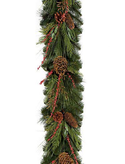 9 Foot Australian Pine Garland: Set of (2) For Christmas 2014
