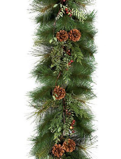 6 Foot Sugar Pine Garland: Set of (2) For Christmas 2014