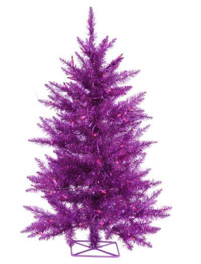 3 foot Purple Christmas Tree: Mini Lights For Christmas 2014