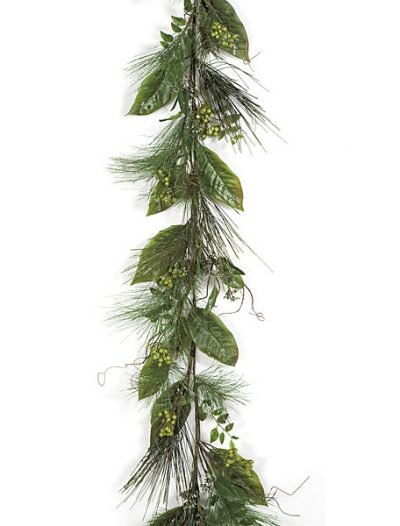 6 Foot Iced Pine Garland with Berries: Set of (2) For Christmas 2014