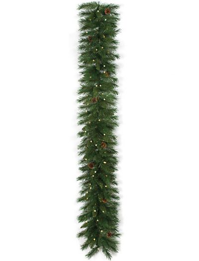 6 foot Mixed Pine Garland: LED Lights - Battery Operated For Christmas 2014