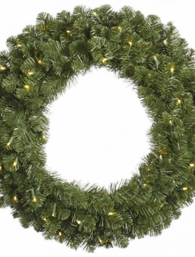 Vickerman 96 in. Pre-Lit LED Grand Teton Wreath - Clear (Christmas Tree)
