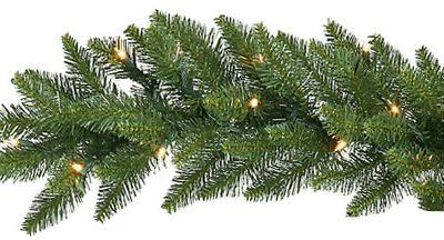 Vickerman 4.2 ft. Camden Garland with 550 Warm White LED (Christmas Tree)