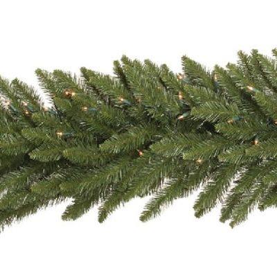 Vickerman 9 ft. Camden Garland with 150 Warm White LED (Christmas Tree)