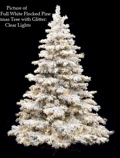 White Flocked Glitter Pine Christmas Tree For Christmas 2014