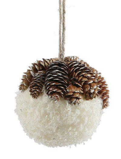 4.5 inch Snow Christmas Ball Ornament For Christmas 2014