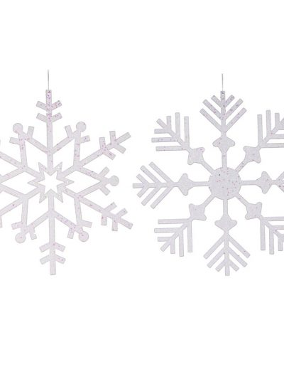 18 inch Artificial Glitter Christmas Snowflake Ornament (set of 2) For Christmas 2014