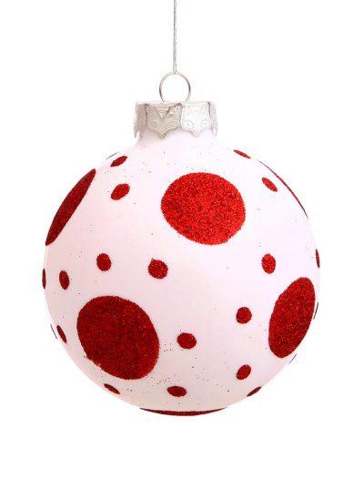 3 inch Bare Ball Christmas Polka Dot Ball Ornament (Set of 4) For Christmas 2014