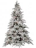 Vickerman A895177 7.5 ft. x 65 in. Flocked Utica Dura-Lit 850MU (Christmas Tree)