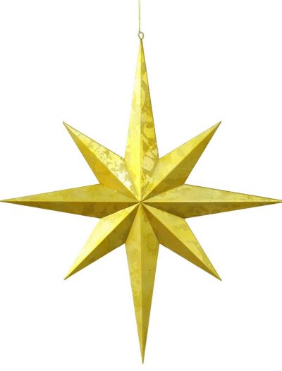 23.5 inch Outdoor Gold Foil Candy Christmas Star Ornament For Christmas 2014