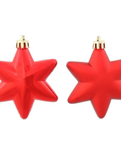 2 inch Red Assorted Shiny Christmas Stars Ornament (Set of 36) For Christmas 2014