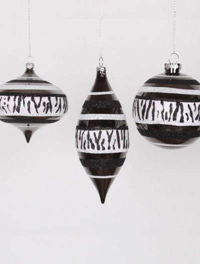 4 inch Zebra Christmas Onion & Ball Ornament For Christmas 2014
