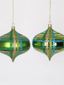 3.93 inch Lime Christmas Onion Drop Ornament (Set of 4) For Christmas 2014