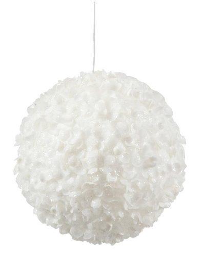 3.5 inch White Sequin Christmas Kissing Ball Ornament For Christmas 2014