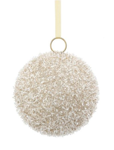 4 inch Champagne Glitter Christmas Ball Ornament (Set of 6) For Christmas 2014