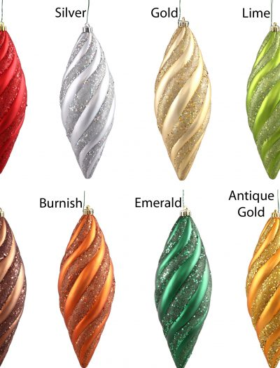 12 inch Spiral Ornament (Box of 3 Spirals) For Christmas 2014