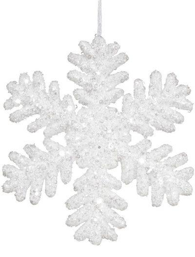 13.75 inch Styrofoam Christmas Snowflake Ornament For Christmas 2014