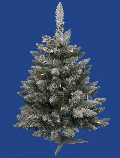 Flocked Sugar Pine Christmas Tree For Christmas 2014