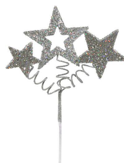 10 inch Glitter Star Christmas Spray For Christmas 2014