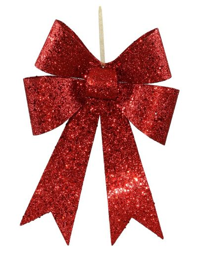 12 inch Sequin Christmas Bow Ornament (set of 4) For Christmas 2014