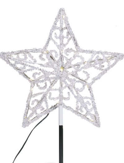 12 inch Iced LED Star Christmas Tree Topper For Christmas 2014